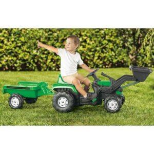 Traktor sa prikolicom i utovarivačem